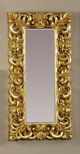Espejo rectangular de marco dorado decoraci n y accesorios for Espejo marco dorado