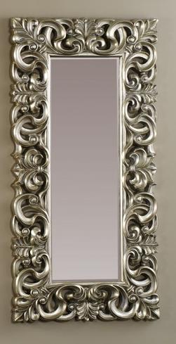 Espejo rectangular de marco plateado decoraci n y for Marcos plateados para espejos