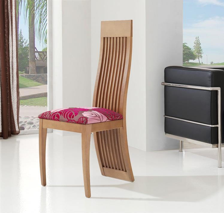 Sillas respaldo completo for Sillas comedor madera modernas
