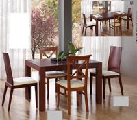 Mesa de comedor extensible y sillas
