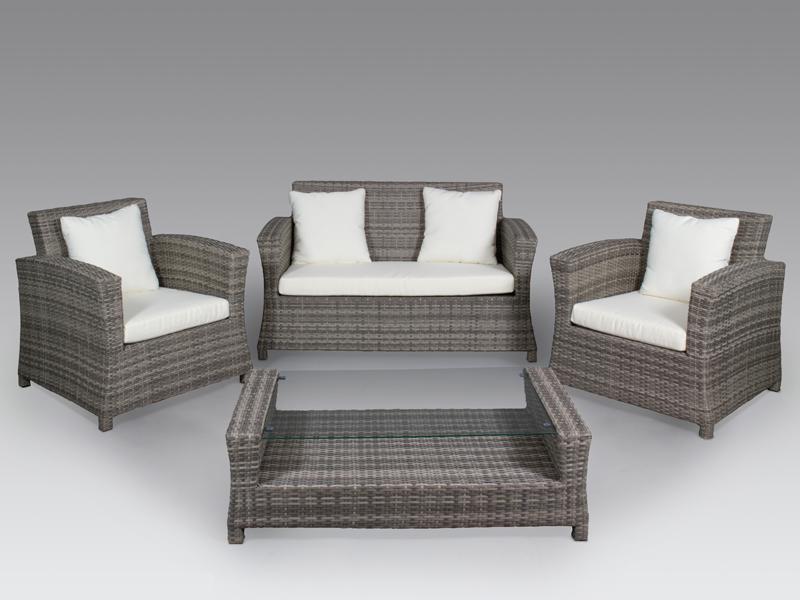 Muebles rattan gris for Rattan muebles