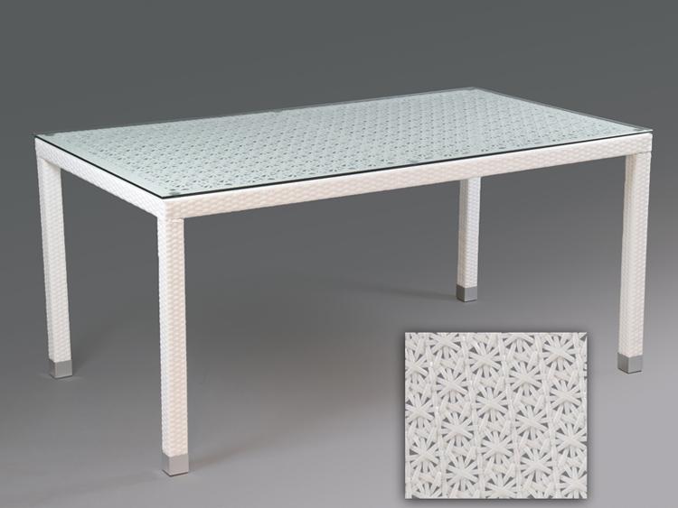 Silla y mesa comedor rattan sint tico blanco muebles de - Muebles terraza rattan ...