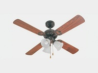 LISBOA  106CMS 4 PALAS MARRON 3L - Ventilador de techo con 3 luces