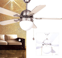  AGADIR  107 CMS BLANCO 5 P. 1LUZ ventilador de techo -  AGADIR  107 CMS BLANCO 5 P. 1LUZ