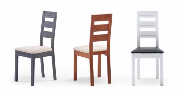 Silla de comedor de madera con coj n muebles de comedor for Cojines sillas comedor