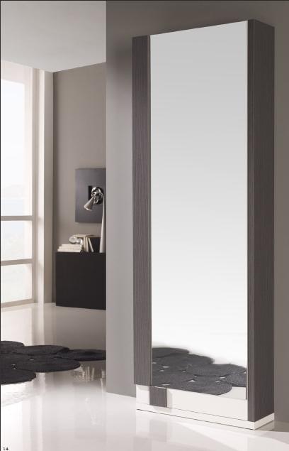 Zapatero alto con espejo dormitorios muebles de interior for Zapatero alto con espejo