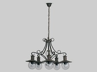 LISBOA Lámpara 5L MARRON OXIDO