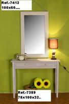 Recibidor y espejo de madera