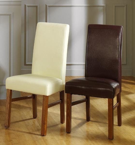 Silla elegante tapizada en polipiel muebles de comedor for Sillas comedor polipiel
