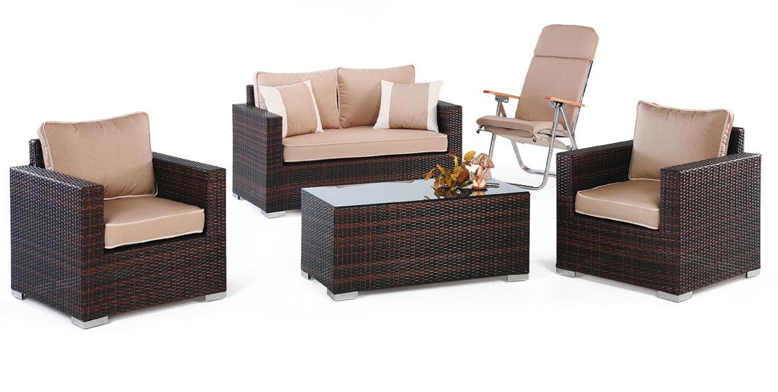 Sofas de poliratan para exterior vallecas for Sofa exterior plegable