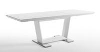 Mesa comedor extensible 3 - Mesa comedor extensible lacado en blanco brillo