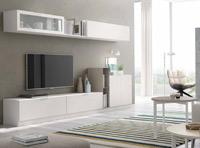 Moderno mueble de TV propuesta 37 - Moderno mueble de TV propuesta 37, fabricadas en DM y chapado en melamina con efecto natural o en terminaciones lacadas