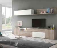 Moderno mueble de TV propuesta 39 - Moderno mueble de TV propuesta 39, fabricadas en DM y chapado en melamina con efecto natural o en terminaciones lacadas