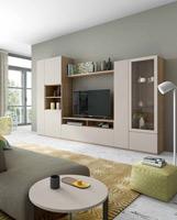 Moderno mueble de TV propuesta 48 - Moderno mueble de TV propuesta 48, fabricadas en DM y chapado en melamina con efecto natural o en terminaciones lacadas