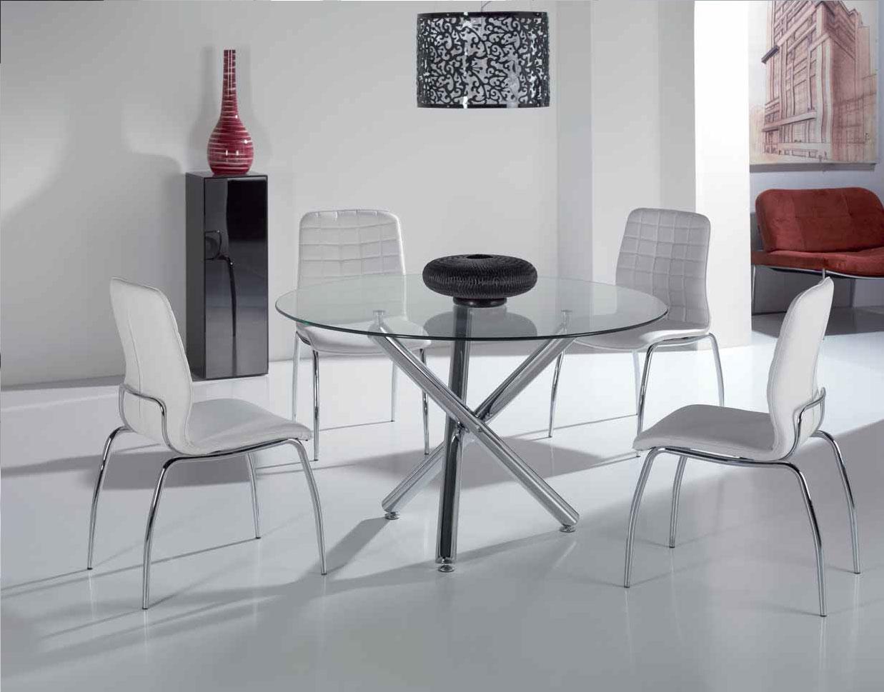 Mia home mesa de comedor redonda 417 g silla 119 for Mesa rinconera comedor