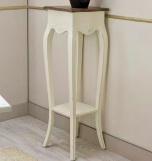 Entrada de madera - Consola blanca