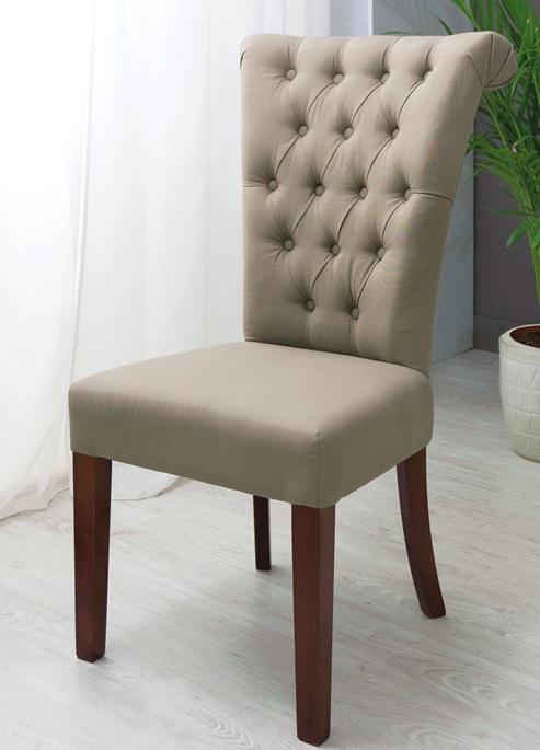 Mia home silla de tela for Sillas capitone modernas
