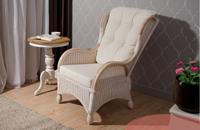 Sill�n Monza - Sillon con tapizado blanco, dise�o clasico y de alta calidad, MONZA