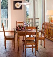 Mesa de comedor o silla Chateaux en madera rustica - Mesa de comedor y silla Chateaux en madera rustica