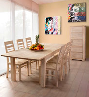 Mesa de comedor extensible o sillas Kastle - Mesa de comedor extensible o sillas Kastle