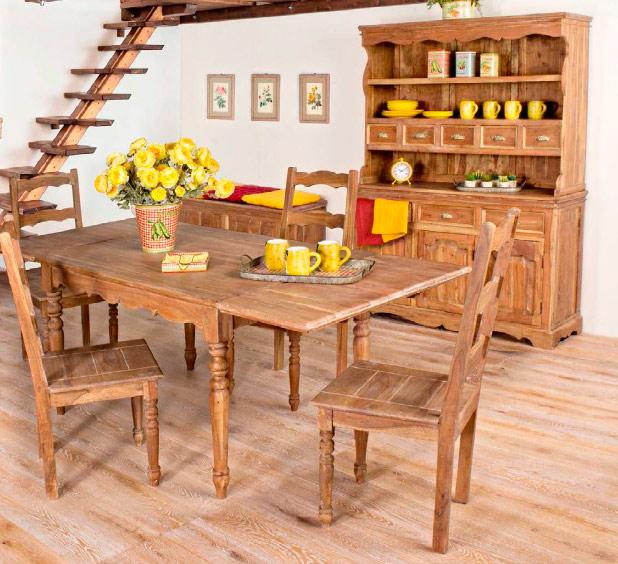 Mesa de comedor extensible aparador buffet avignon mia home - Buffet para comedor ...