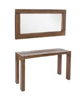 Espejo o consola Jamila en madera con acabado natural