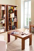 Estanteria o mesa baja de sal�n Jamila en madera con acabado natural - Estanteria o Mesa baja de sal�n Jamila en madera con acabado natural