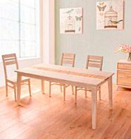 Mesa de comedor o sillas Dexter - Mesa de comedor o sillas Dexter en madera s�lida