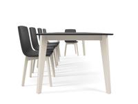 Mesa de comedor Eclipse - mesa extensible moderna Eclipse vetas estilo nordico
