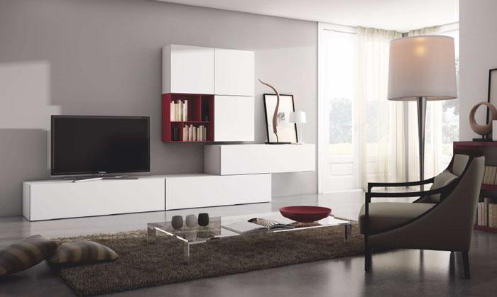 Mia home mueble de sal n moderno composici n 6 basic for Composicion salon moderno