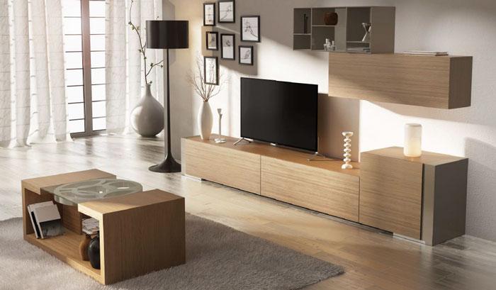 Mia home mueble de sal n moderno composici n gamma 7 for Composicion salon moderno