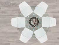 Mesa de comedor redonda Atenas - Mesa de comedor redonda Atenas