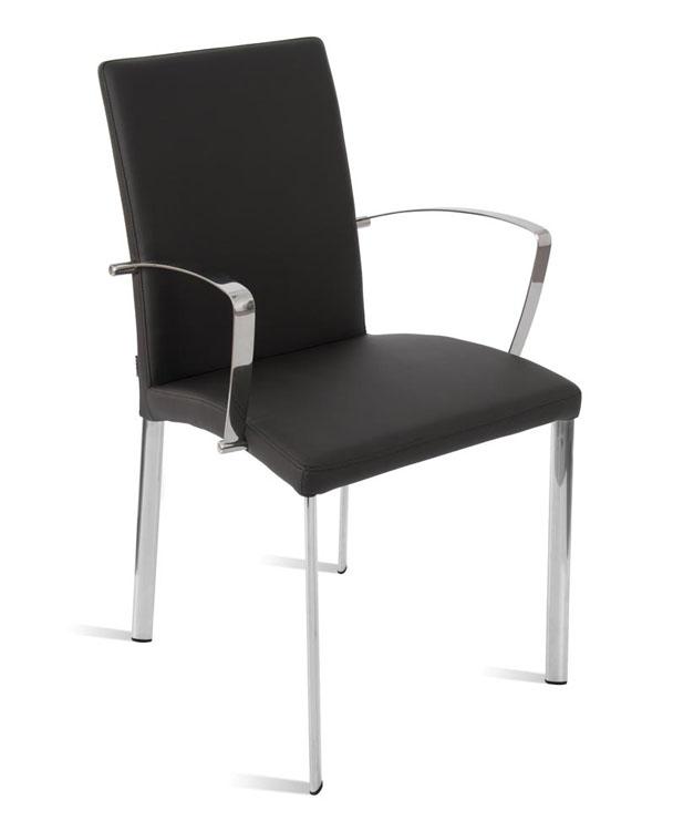 Silla comedor asiento y respaldo tapizados muebles de for Asientos de comedor