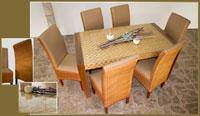 Mesa de comedor o silla en Ratán J308/J910 - Mesa de comedor o silla en Ratán J308/J910