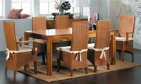 Mesa de comedor o silla en Ratán J145/J146 - Mesa de comedor o silla en Ratán J145/J146