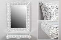 Set rectangular de consola y espejo Dubai - Set rectangular de consola y espejo Dubai fabricado en Metal