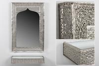 Set Arabic de consola y espejo Dubai - Set Arabic de consola y espejo Dubai fabricado en Metal