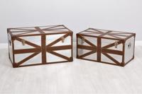 Set de 2 baules London - Set de 2 baules London fabricado en Piel + Aluminio
