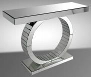 Consola de espejos c�rculo pata