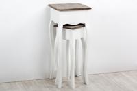 Juego de dos planteros Nimes - Set de 2 pedestales Nimes en madera de ABETO+MDF