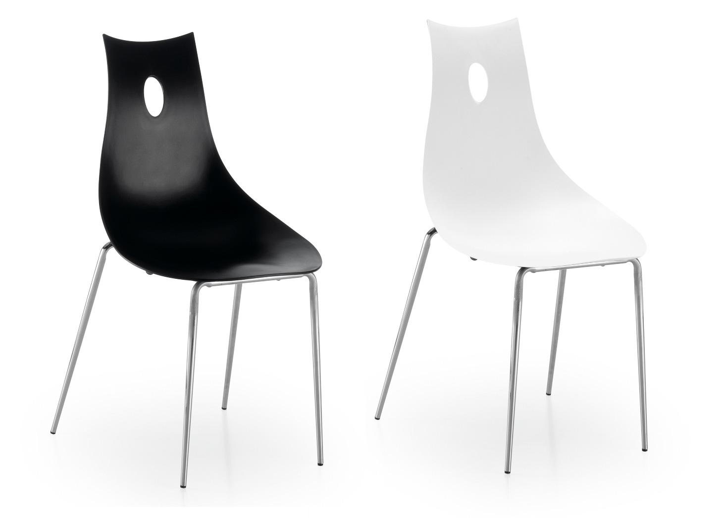 Sillas pl stico modernas negras for Sillas negras modernas