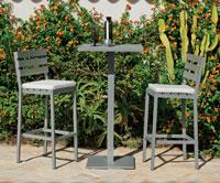 Set mesa alta bar con sillas de lujo para exteriores Madeira 60 - Mesa de mesa alta bar y sillas con resistencia garantizada y acabado de lujo Madeira 60