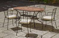 Set sillas o mesa mosaico modelo Asburgo/Coblanca 160 - Set sillas o mesa mosaico modelo Asburgo/Coblanca 160