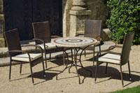 Set sillas o mesa mosaico modelo Ornella/Bergamo 90 - Set sillas o mesa mosaico modelo Ornella/Bergamo 90