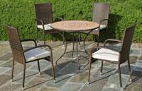 Set sillas o mesa mosaico modelo Priscila/Bergamo 90 - Set sillas o mesa mosaico modelo Priscila/Bergamo 90