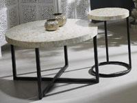 "Mesa de centro o mesa auxiliar ""madre perla"" - Mesa de centro o mesa auxiliar ""madre perla"""