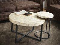 """Mesa de centro o mesa auxiliar """"Perla Rustica"""" - Mesa de centro o mesa auxiliar """"Perla Rustica"""""""