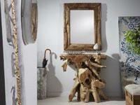 Consola o espejo de Raíz de teka - Consola o espejo de Raíz de teka