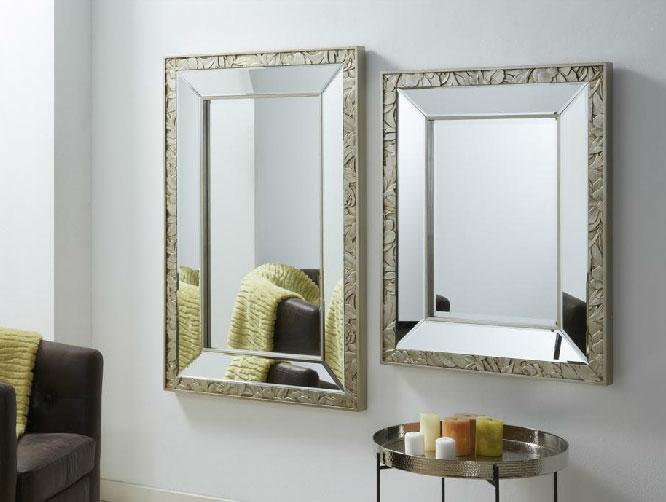 Mia home espejos cuadrados tallados for Espejos tallados