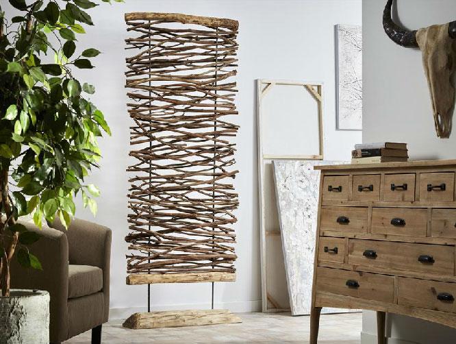Mia home separador de decoraci n - Separador de madera ...